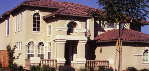 Two Story Stucco House